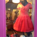 Robe rouge en coton. Fabrication 100% made in France.