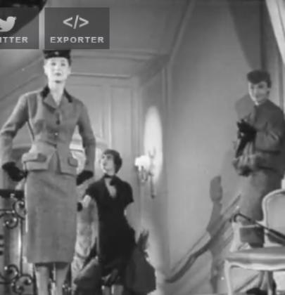 1953 – Les jupes courtes de Christian Dior